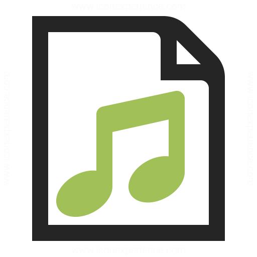 Document Music Icon Iconexperience