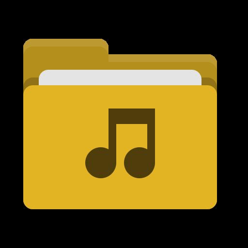 Folder, Yellow, Music Icon Free Of Papirus Places