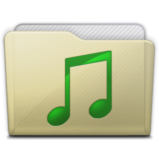 Beige Folder Music Icon Free Download As Png And Formats