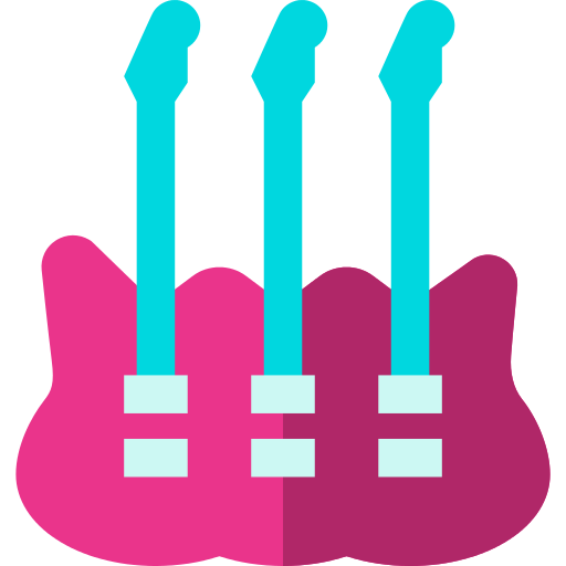 Multi Neck Guitar Png Icon