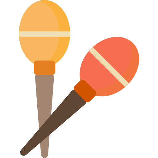 Maracas, Tropical, Shaker, Music, Musical Instrument Icon