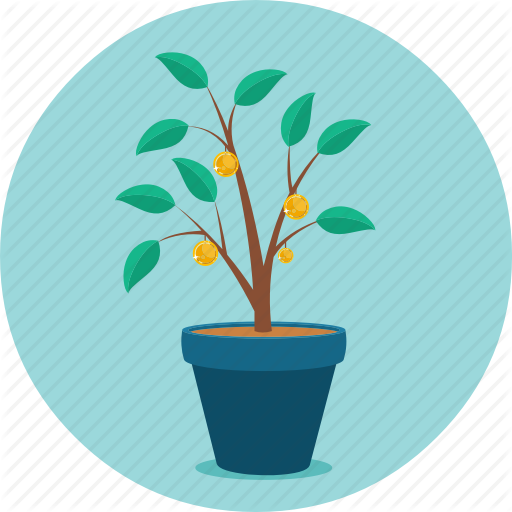 Growing, Growth, Money, Money Plant, Mutual Funds, Plant Icon