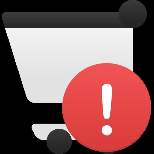 Shopping Cart Alert Icon Flatastic Iconset Custom Icon Design