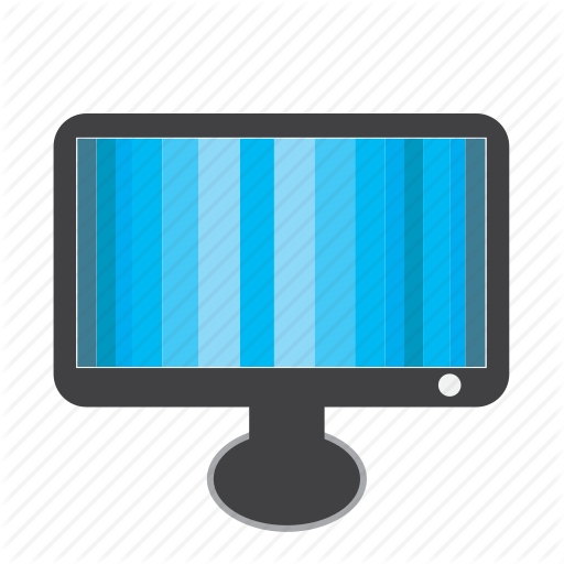Blue, Monitor, Screen, Static, Televisoin, Tv Icon