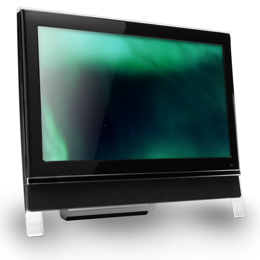 Computer Dark Green Icon Claire Monitor Iconset Prasilarts