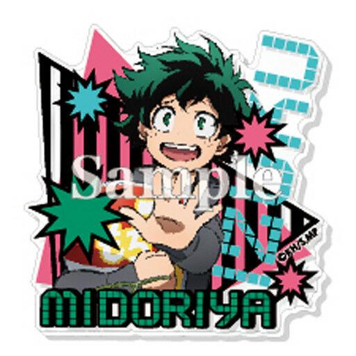 My Hero Academia Midoriya Izuku Stop Acrylic Badge Pin Anime Manga