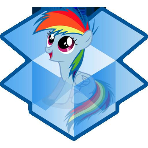 Dropbox Rainbow Dash Icon