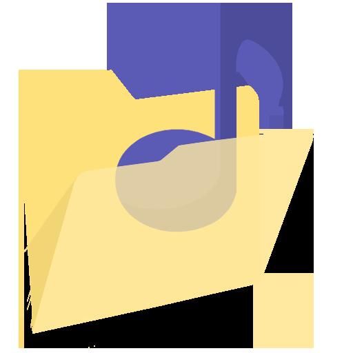 Modernxp Folder Music Icon Modern Xp Iconset Dtafalonso