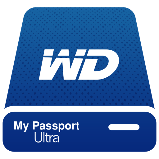 Hdd Wd My Passport Ultra Blue Pngicoicns Free Icon Download