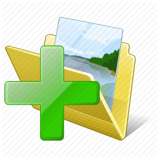 Add, Folder, Gallery, Images, Media, My, Pictures Icon