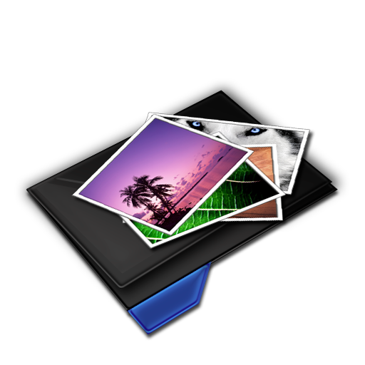 Folder My Pictures Blue Icon