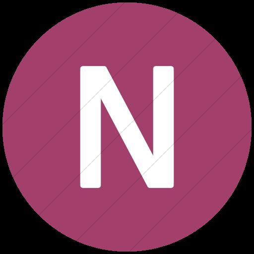 Flat Circle White On Pink Alphanumerics Uppercase