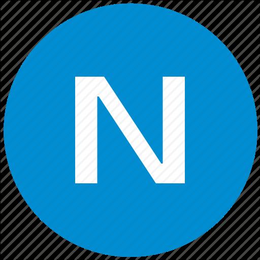 Key, Latin, Letter, N Icon