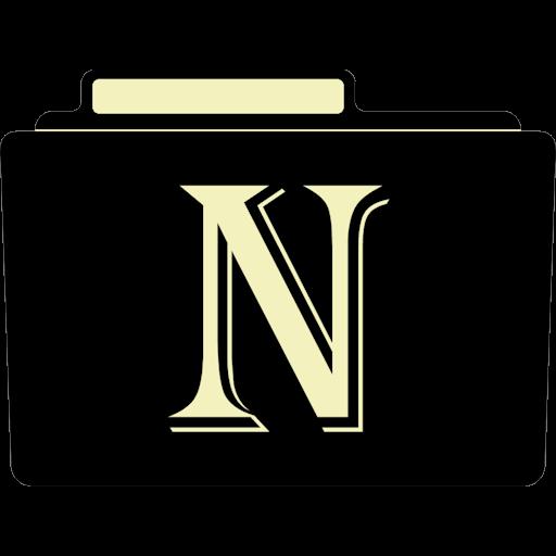N Icon Alphabet Folder Iconset Aaron Sinuhe