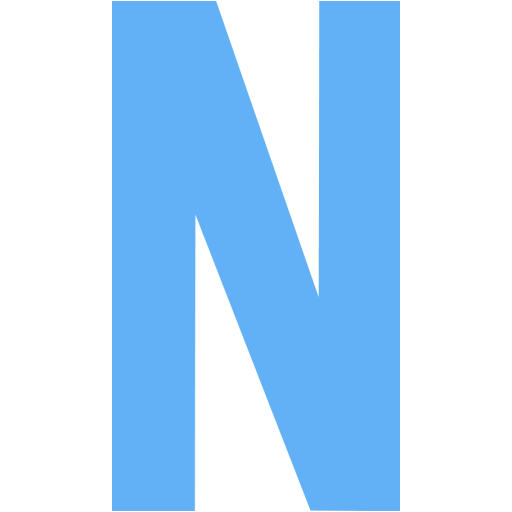 Tropical Blue Letter N Icon
