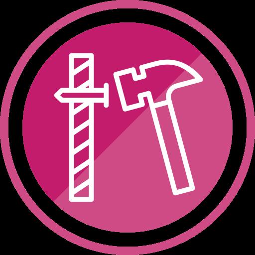 Tools, Hammer, Construction, Nail Icon