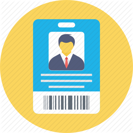 Id Card, Identity, Membership Id, Name Tag, Student Card Icon