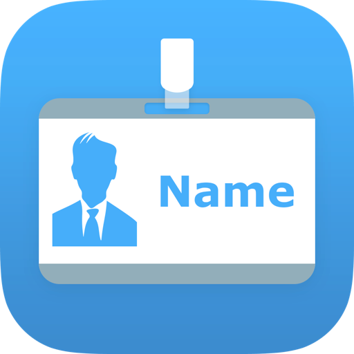Name Badge App For Iphone And Ipad Print Your Name Badge Or Name