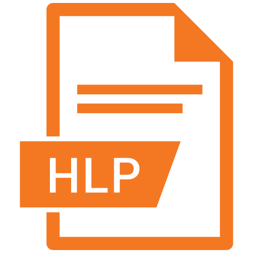 Hlp, File, Extension, Name Icon