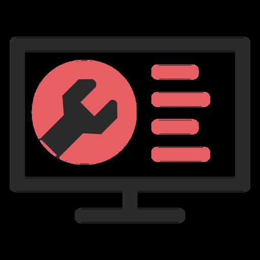 Website Maintenance Colored Stroke Icon