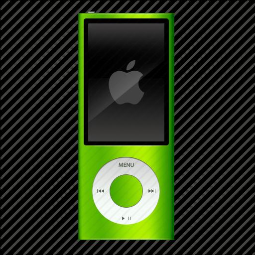 Apple, Extra, Green, Ipod, Nano Icon