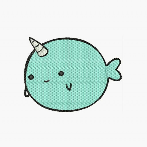 Adorable Narwhal Machine Embroidery Designs