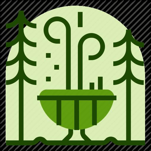 Fountain, Holiday, Location, National, Park, Vacation Icon
