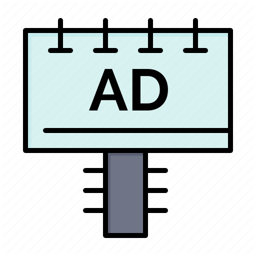 Ad, Advertising, Board, Signboard Icon