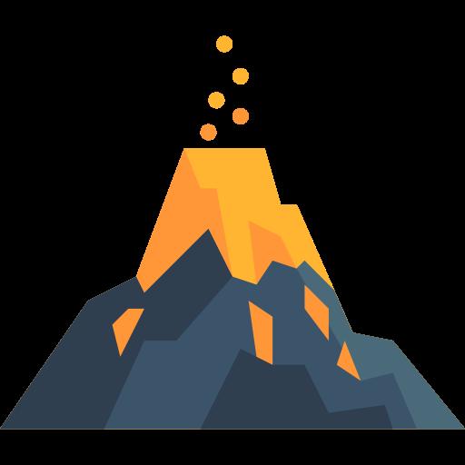 Disaster, Natural, Volcano, Erupting, Nature, Danger, Eruption Icon