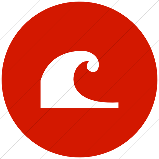 Flat Circle White On Red Ocha Humanitarians Disaster