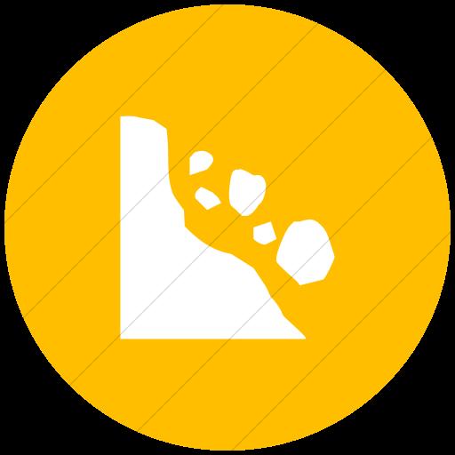 Flat Circle White On Yellow Ocha Humanitarians Disaster