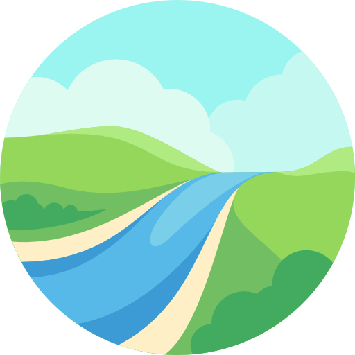 Landscape, River, Nature Icon