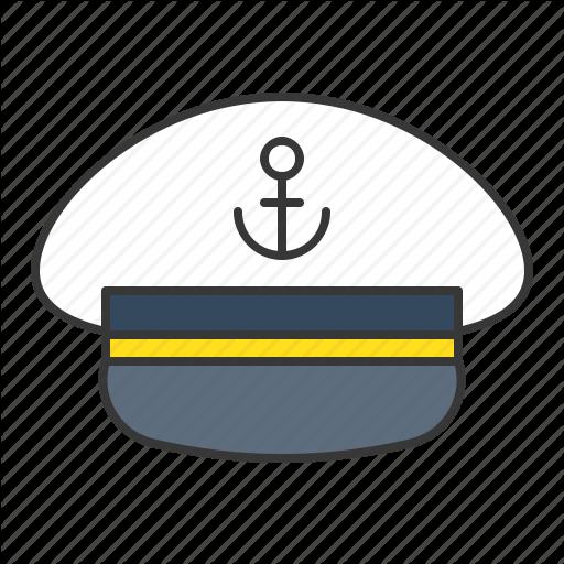 Cap, Captain, Captain Sailor Hat, Hat, Nautical, Sailor Hat Icon