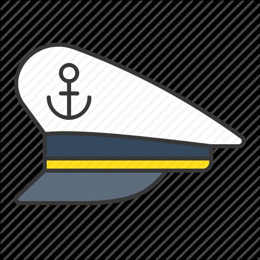 Cap, Captain Sailor Hat, Hat, Nautical, Sailor Hat Icon