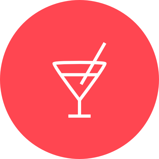 Red, Bar Icon Free Of Hotel And Spa Icons