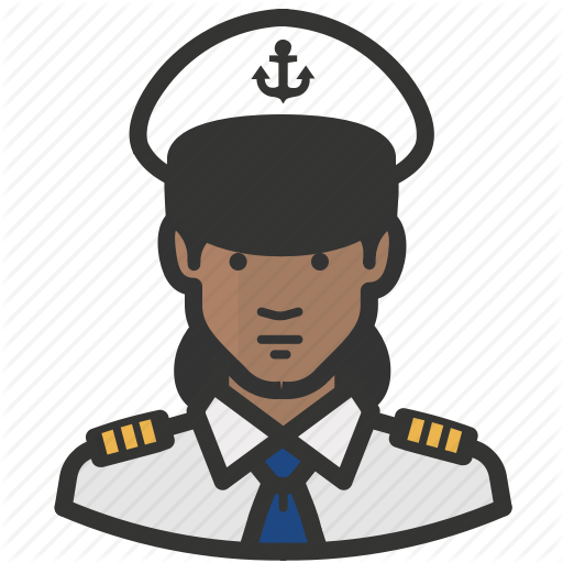 African, Avatar, Female, Girl, Military, Navy, Woman Icon