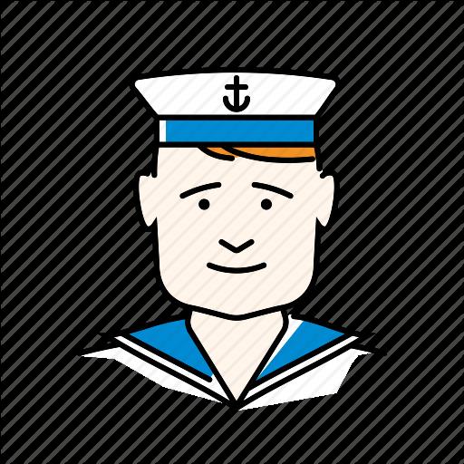 Avatar, Man, Navy, People, Profession, Sailor Icon