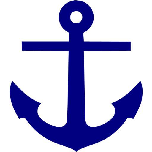 Navy Blue Anchor Icon