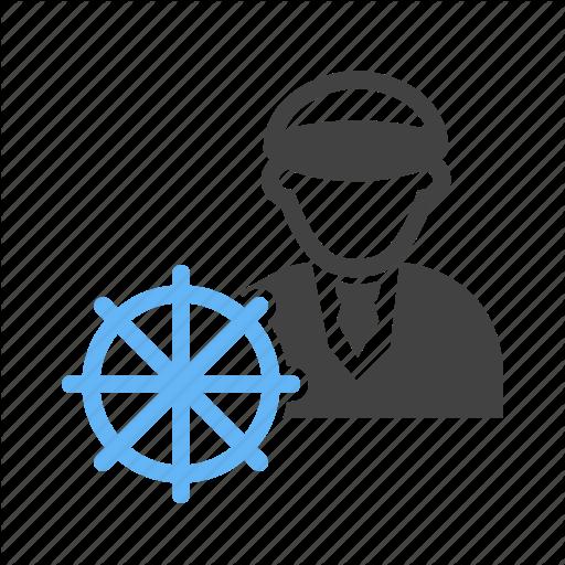 Captain, Navy, Ship, Water Icon