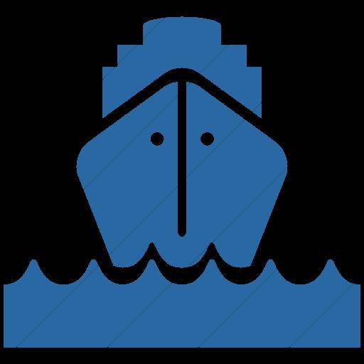Simple Blue Ocha Humanitarians Logistics Ship Icon
