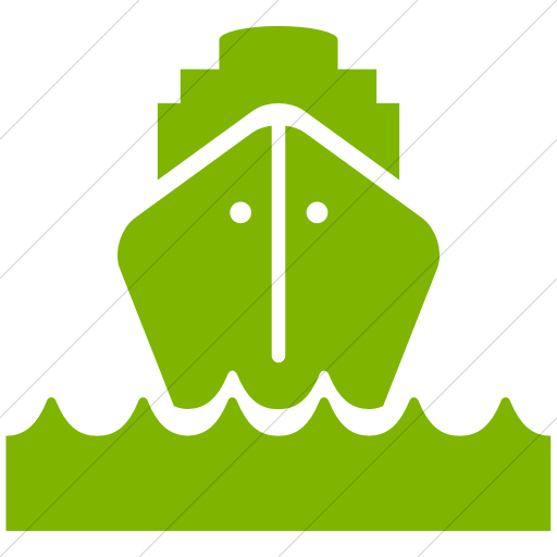 Simple Green Ocha Humanitarians Logistics Ship Icon