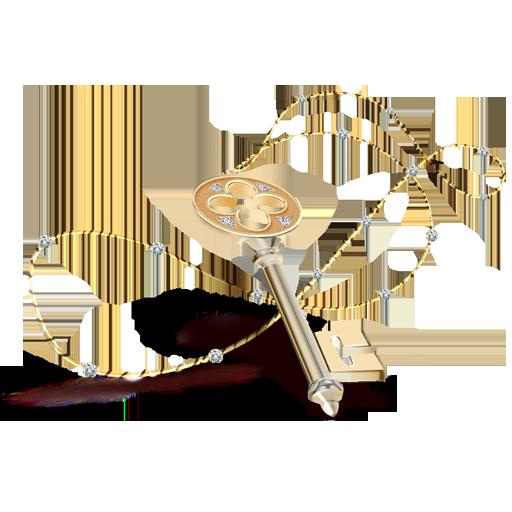 Key Necklace Icon Gentle Romantic Iconset Artdesigner Lv