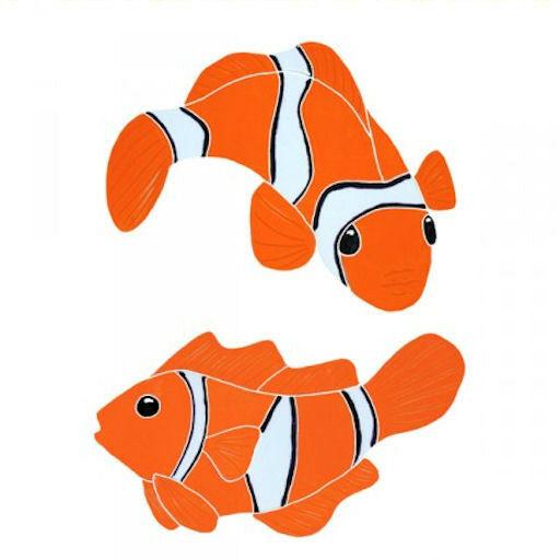 Mosaic Tile Clown Fish Nemo Swimming Pool Wall Patio Walk Drive