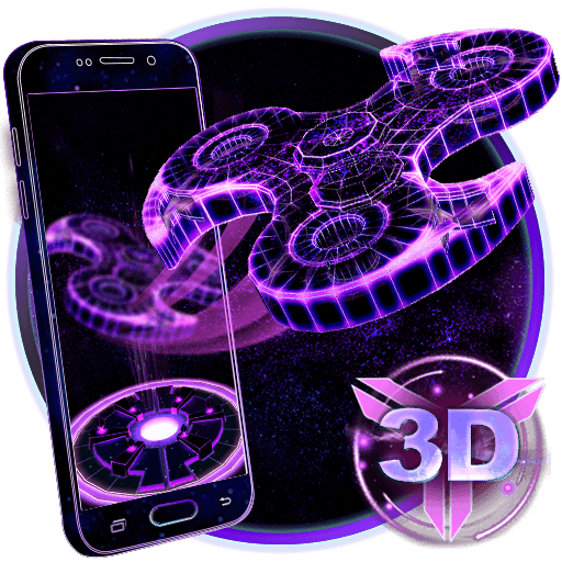 Fidget Spinner Neon Hologram Theme Apk Download From Moboplay