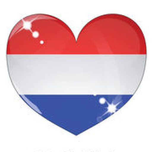 Cropped Icon Of Netherlands Flag Vector