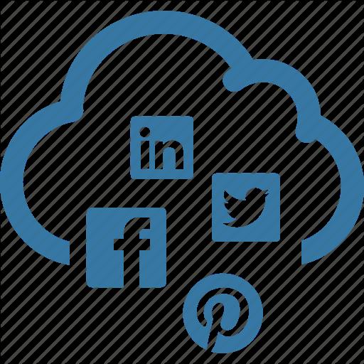 Cloud, Network, Seo, Social Media Cloud Icon