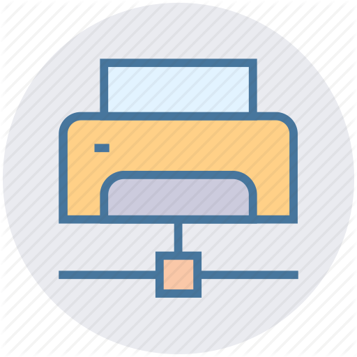 Database, Device, Fax, Network, Print, Printer Icon
