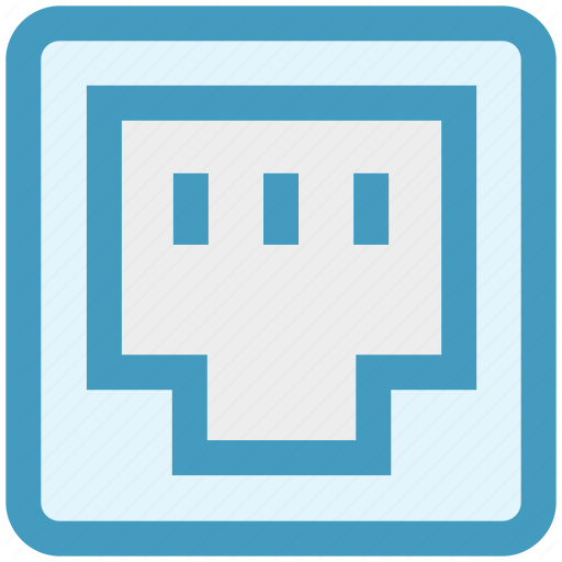 Ethernet, Internet, Lan Port, Network, Port Icon