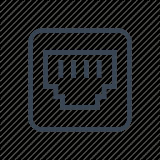 Ethernet, Internet, Network, Port Icon