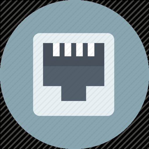 Ethernet, Internet, Port Icon